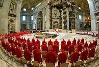 Los 115 cardenales en la misa previa al cónclave. (Foto: EFE)