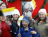 Niños alemanes celebran la elección. (Foto: AP)