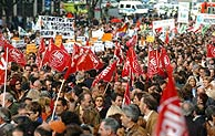 Un momento de la manifestacion. (Foto: EFE)