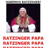 Imagen de una página web de uno de los clubes de fans de Ratzinger.