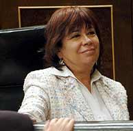 Narbona, en el Congreso de los Diputados. (Foto: EFE)