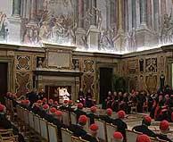 Reunión del Papa con los cardenales. (Foto: Reuters)