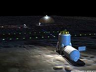 Boceto de una base lunar ideado por John Frassanito y Asociados. (Foto: space.com)