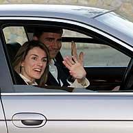 Los Príncipes, a su llegada al palacio de Marivent, en Palma de Mallorca. (Foto: EFE).  IMÁGENES RECIENTES.