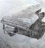 El dibujo del piano de cola. (Foto: The Guardian)