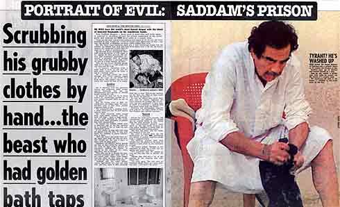 Imagen de la información sobre Sadam ofrecida por 'The Sun'.