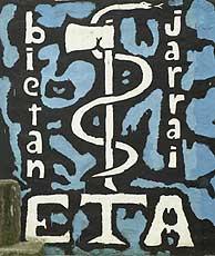 Anagrama de ETA, en una calle de Usurbil. (Foto: AP)