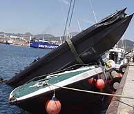 Estado en que quedaron las embarcaciones. (Foto: EFE)
