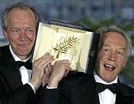 Los hermanos Dardenne, con su segunda Palma de Oro. (Foto: AP)