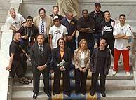 """Presentación del proyecto """"El Quijote Hip Hop"""", una iniciativa musical de la Biblioteca Nacional, con la participación de Frank T, La Excepción, Dani Pannullo y otros artistas del rap. (Foto: Guillén)"""