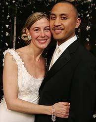 Mary Kay y Vili, el día de su boda. (Foto: AP)