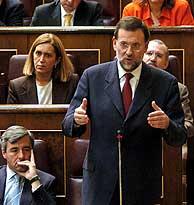 Rajoy en el Congreso. (Foto: EFE)