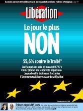 Portada del diario 'Libération'