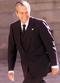 Adolfo Suárez, durante la boda de Ana Aznar y Alejandro Agag. (Foto: EL MUNDO)