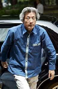 Koizumi, de sport por una buena causa. (Foto: EFE)
