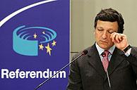 Barroso, al conocer los resultados del referéndum holandés. (Foto: REUTERS)