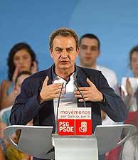 Zapatero, en el mítin en Vigo. (Foto: EFE)