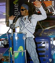 El músico brasileño, en la presentación del Carnaval. (Foto: EFE)