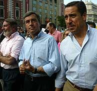 El PP ha estado representado por Mayor Oreja, Ángel Acebes y Eduardo Zaplana. (Foto: Kike Para)