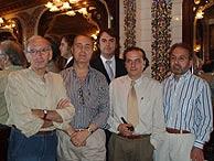 De izqa. a dcha., Alonso de Santos, L. A. de Cuenca, M. Á. de Rus, J. M. González y J. E. Canabal. (Foto: V.H.)