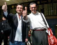 Manuel Cobo y Alberto Ruiz-Gallardón partieron contentos a Singapur. (Foto: EFE)