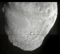 Imagen del cometa Temple 1 tomada por el proyectil ante de chocar. (Foto: EFE)