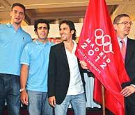 Gasol, Indurain, Raúl y Gallardón. (Foto: REUTERS)