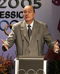 Chirac, durante la presentación. (Foto: AP)