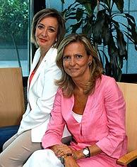Esther Esteban (izda.) e Isabel San Sebastián, codirectoras de 'El Debate'. (Foto: EL MUNDO)