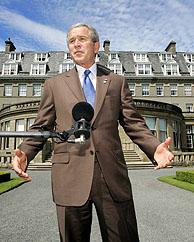 Bush habla en Escocia, donde se celebra la cumbre del G8, sobre los atentados en Londres. (Foto: REUTERS)