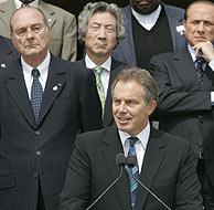 Blair, durante su intervención. (Foto: AP)
