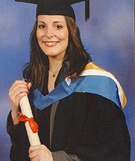 Una fotografía de Davinia en su graduación. (EFE)