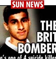La portada de 'The Sun' muestra el rostro de Shehzad Tanweer, uno de los terroristas.