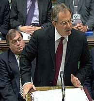 Blair en los Comunes. (Foto: AP)