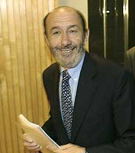 Alfredo Pérez Rubalcaba. (Foto: Kike Para)