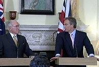 Blair junto al australiano John Howard, (Foto: AP)