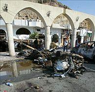 Pared del Hotel Ghazala Gardens, donde se produjo una explosión cuando el grupo de españoles caminaba cerca. (Foto: EFE)
