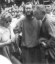 Ortega Lara, tras salir de su cautiverio en junio de 1997. (Foto: A. Gallego)