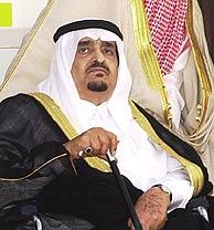 El rey Fahd, en Málaga, en el verano de 2002. (Foto: EFE)