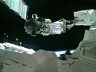El astronauta Noguchi, durante el paseo. (Foto: NASA)