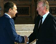 Zapatero y el Rey, durante su encuentro. (Foto: REUTERS)