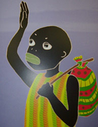 Wamba, despidiéndose de su familia.