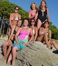 Las vigilantas: Susi, Isabel, Emi, Irene, Margarita, Marta y nuestra Pilar.