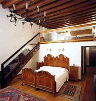 Una de las habitaciones del hotel de Lorena en Venecia.