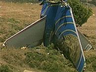 La cola del avión siniestrado. (Foto: AP)