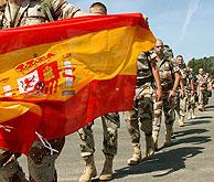 Despedida del último batallón enviado a Afganistán. (Foto: EFE)