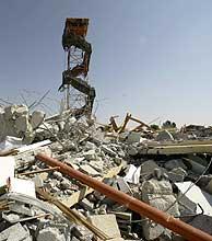 El asentamiento de Morag, en Gaza, demolido tras la evacuación de los colonos. (Foto: Reuters)