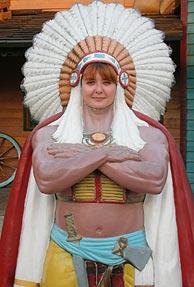 Vestida de india... no cabreada.