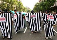 Imagen de una manifestación a favor del pueblo saharaui. (Foto: S.Cogolludo)