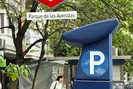 Un parquímetro en Parque Avenidas. (Foto: EL MUNDO)